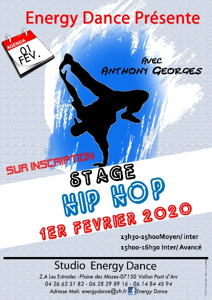 AFFICHE STAGE HIP HOP