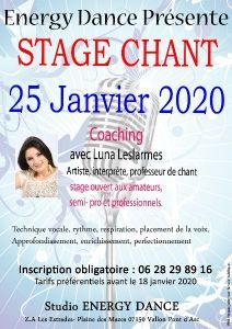 Stage de chant avec Energy Dance